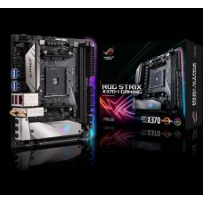 Asus ROG STRIX X370-I GAMING AM4 mITX MB 2xDDR4 1xPCe 1xM.2 4xSATA 6xUSB3.1, 1xASUS Wi-Fi GO! module (Wi-Fi 802.11 a/b/g/n/ac and Bluetooth v4.2)
