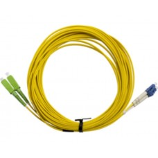 Cabac SCA-LC Duplex OS2 Fibre Optic Patch Leads 20m Yellow 2mm Single Mode for CATV/Video, PON, WDM/DWDM, FTTH