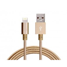 Astrotek 1m USB Lightning Data Sync Charger Gold Color Cable for iPhone 6S 6 Plus 5 5S iPad Air Mini iPod