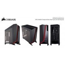 Corsair Carbide SPEC-OMEGA Mid-Tower Tempered Glass Gaming Case, Black and Red PR embargo / Official Announcement Date 09-JAN-2018