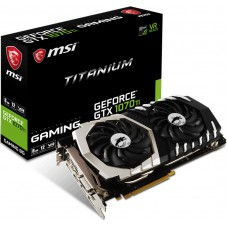 MSI NVIDIA GTX 1070 TI TITANIUM 8GB Video Card - GDDR5 3xDP/HDMI/DVI SLI VR Ready 1607/1683MHz