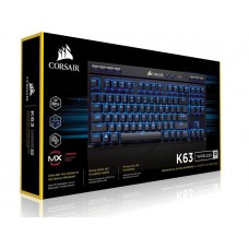 Corsair Gaming™ K63 Wireless Backlit Blue LED, Cherry MX Red, Mechanical Gaming Keyboard -