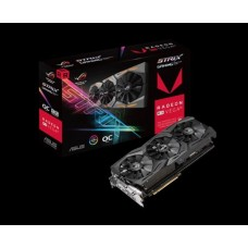 Asus AMD Radeon ROG-STRIX-RXVEGA56-O8G-GAMING DDR5 PCIe Vidro Card 7680x4320, 1xDVI, 2xHDMI, 2xDP