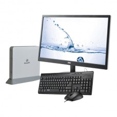 Leader Breeze Visionary 7-W10 Slim PC White, Bundle with AOC 23.6