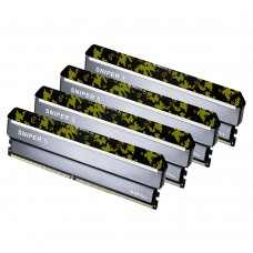 G.SKILL Sniper X 32GB (4x8GB) DDR4 3000Mhz C16 1.35V Gaming Memory Black Header