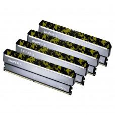 G.SKILL Sniper X 32GB (4x8GB) DDR4 3600Mhz C19 1.35V Gaming Memory Black Header