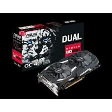 Asus AMD Radeon DUAL-RX580-O4G DDR5 PCIe Video Card 8K 7680x4320 1xDVI 2xHDMI 2xDP 1380/1360 MHz