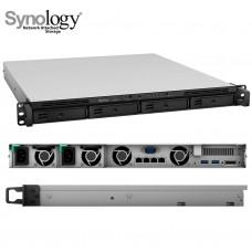 Synology RackStation RS818RP+ 8-Bay NAS 1U Rackmount Intel Atom C2538 Quad Core 2.4 GHz 2GB DDR3 4K 4xGbE LAN 2xUSB3.0 1xeSATA 1xPCIe Hot Swappable